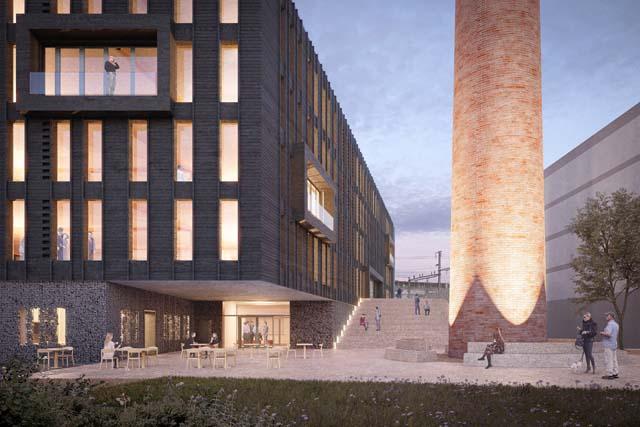 Rendu de Blufactory à Fribourg, projet réalisé par BBA Archipole SA